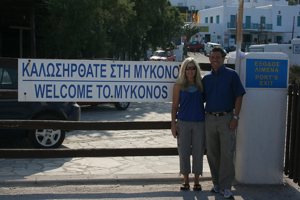 Cathy & Tony in Mykonos, birthplace of Apollo