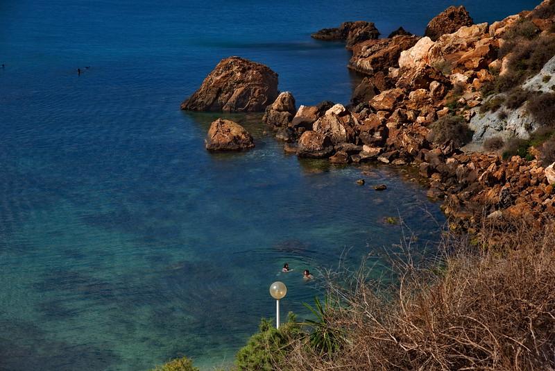 Swimming in the Mediterranean