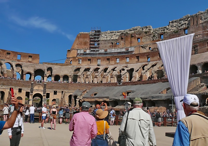 Entry into the Coliseum