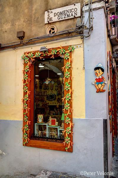 Pinocchio Shop in Taormina, Sicily