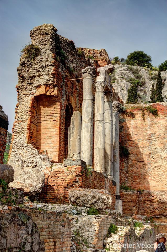 Greek Amphitheater in Taormina, Sicily  - #1