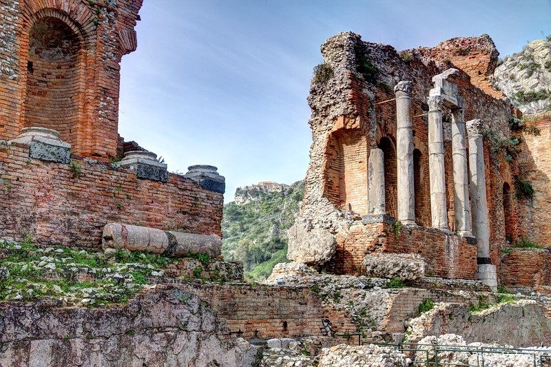 Greek Amphitheater in Taormina, Sicily - #2