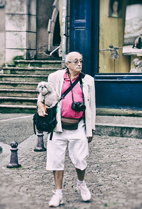 French in pink.