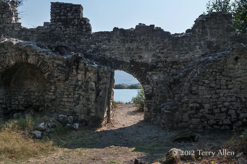City-walls-and-Water-Gate-to-Vivari-Channel-11th-C,-Butrint,-Albania