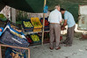 Vegetable-stand-near-amphitheater-of-Durres,-Albania