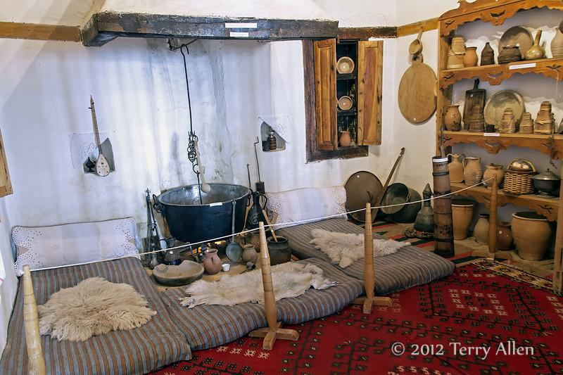 'Kitchen'-Skanderbeg-museum,-Kruja,-Albania