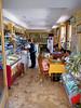 Interior of an ice cream parlor/sandwich shop/bar.