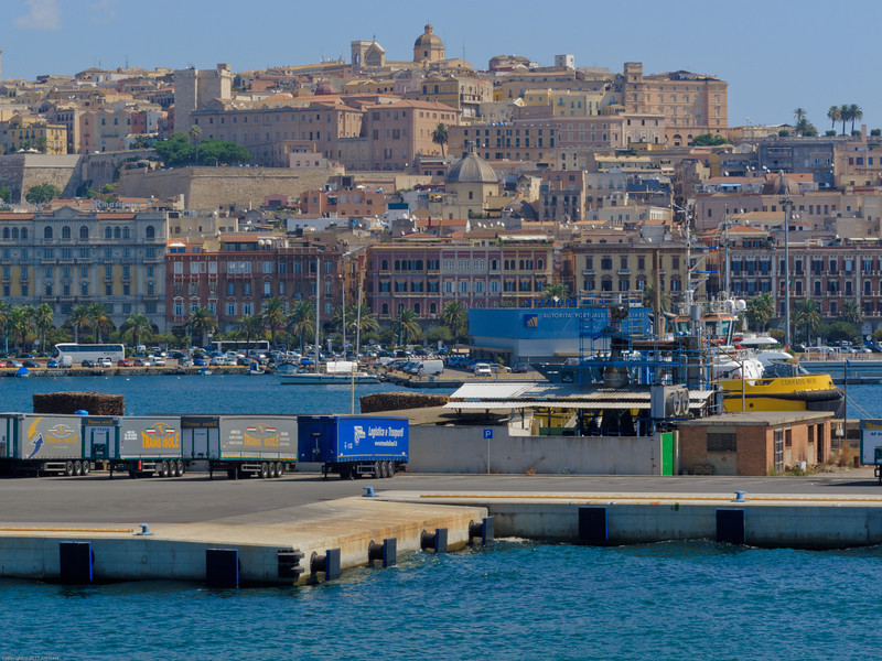 Cagliari,Sardinia's capital, has steep streets, a busy commercial center, and a lofty view of the surrounding sea, lagoons and mountains.