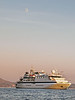 Clipper-Odessey,-sunset-&-moon,-Dubrovnik,-Croatia