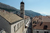 Placa-Stradun-looking-toward-clock-tower,-Dubrovnik,-Croatia