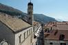 Placa-Stradun-looking-toward-clock-tower,-Dubrovnik,-Croatia