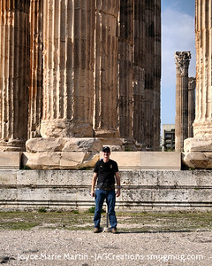 In front of the Temple of Zeus