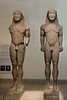Ancient-kouroi,-Kleobis-and-Bilton-twins,-Delphi-Museum,-Greece