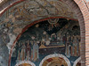Fresco-over-main-door,-Monastery-of-Osios-Louca,-Greec e
