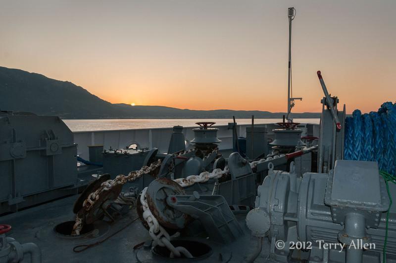 Sunrise,-Gulf-of-Corinth,-Greece