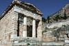 Treasury-of-the-Athenians,-Delphi,-Greece