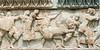 Battle-frieze-with-lion,-Delpi-Museum,-Greece