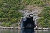 WWII-submarine-pen,-Cattaro-Fjord,-Montenegro