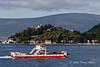 Kamenari-Leptane-ferry-across-Cattaro-Fjord,-Montenegro