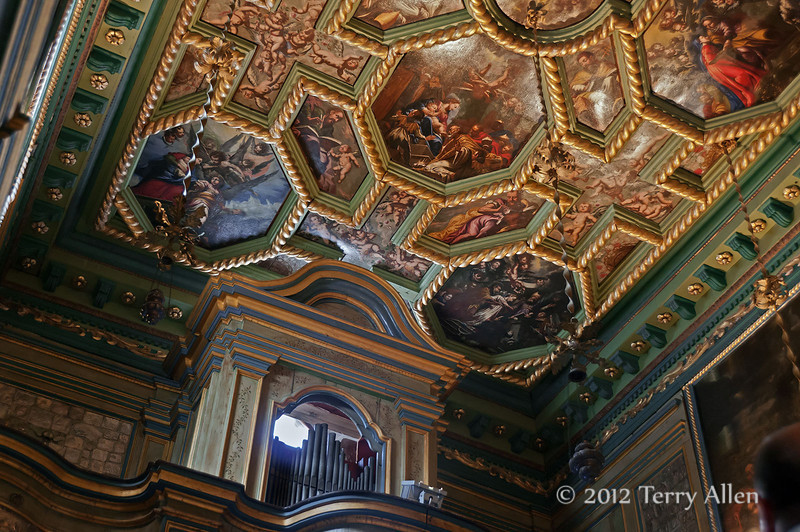 Ceiling,-Our-Lady-of-the-Rock,-Kotor-Bay,-Montenegro