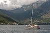 Sail-boat,-Kotor-Bay,-Montenegro