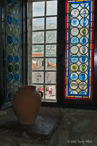 Stained-glass-window,-Our-Lady-of-t e-Rock,-Kotor-Bay,-Montenegro