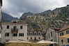 Kotor-old-city-&-city-walls-&-St-Ivan-Fortress,-Montenegro
