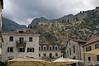Kotor-old-city-&-city-walls-&-St-Ivan-Fortress,-Montenegro