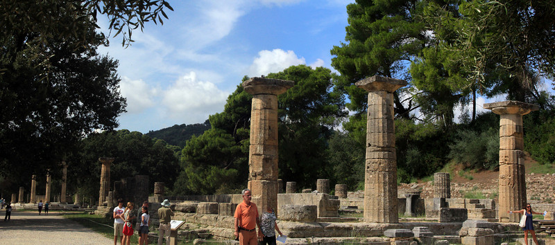 Olympia Panorama - Temple of Hera