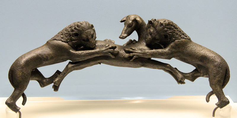 Olympia Museum - Bronze Decoration: Lions & Stag