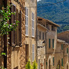 Charming streets in Valdemossa's mountainous setting.