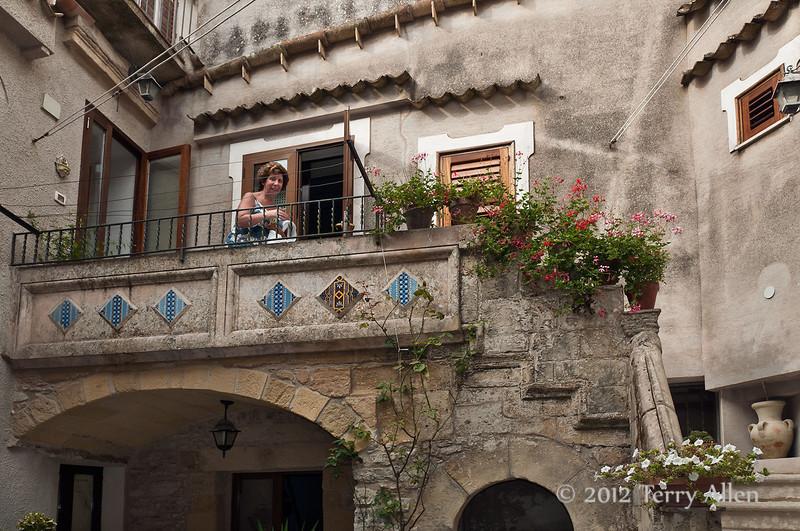 Courtyard,-Erice, Sicily