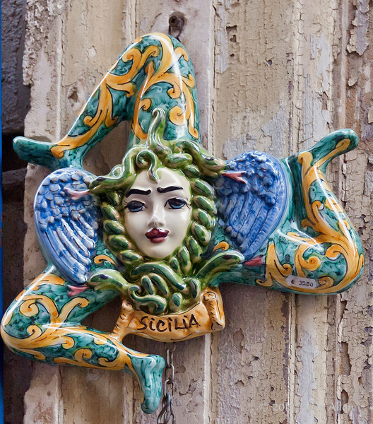 Trinacria-(triskeion),-symbol-of-Sicily,-Syracuse