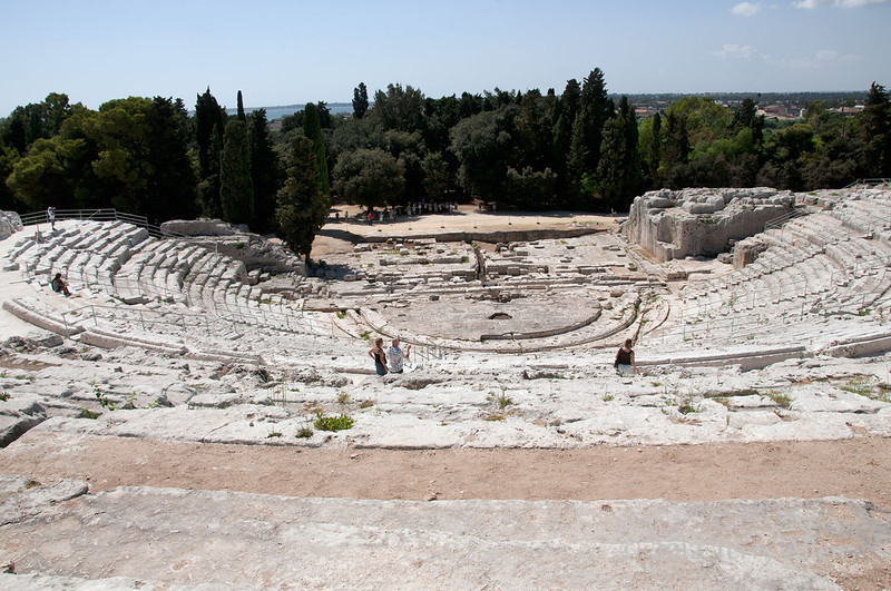 Greek-amphitheater,-Syracuse,-Sicily