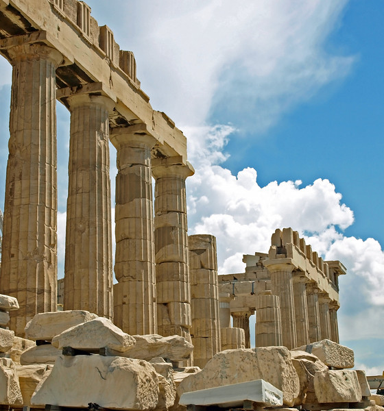 Ruins of the Acropolis in Athens, Greece