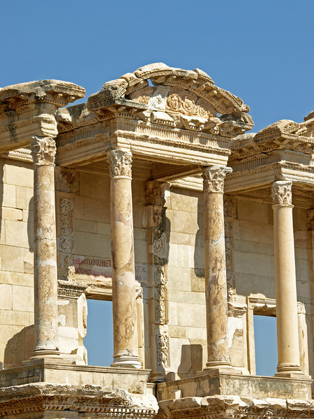 The Library of Celsus in the Ancient City of Anatolia (now Ephesus, Turkey).