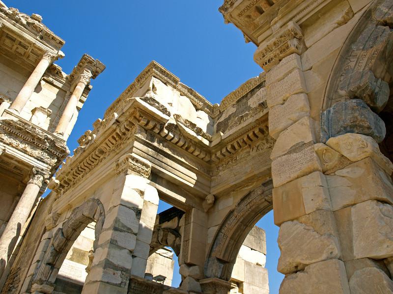 Ruins of the Gate of Augustus in Ephesus, Turkey.