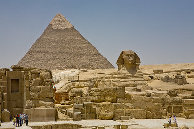Sphynx and Pyramid