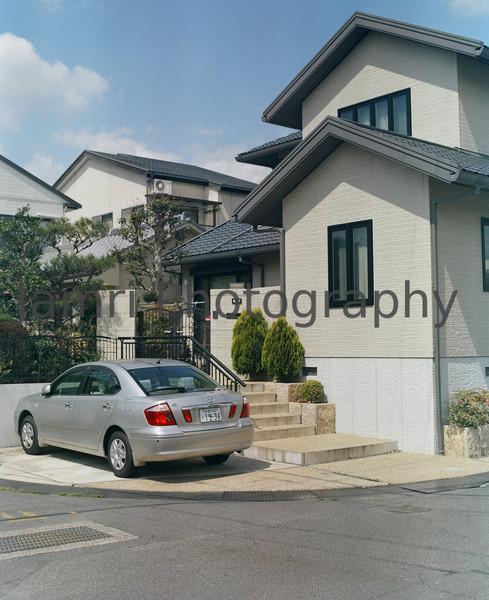 """The house on the corner""<br /> Mamiya RB67 - 90mm f/3.8 Lens - Kodak Portra 400VC"