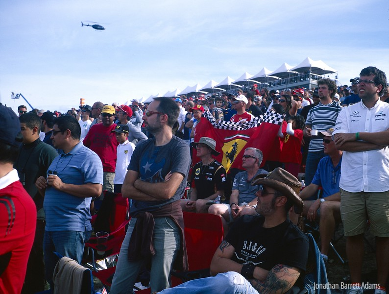 F1 Race Fans at Turn 1, 2014 American Grand Prix