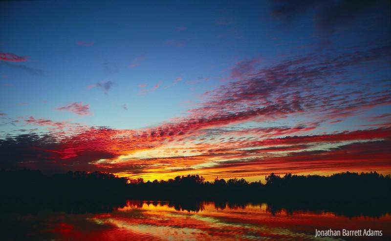 Sunset on Mill Pond Basin