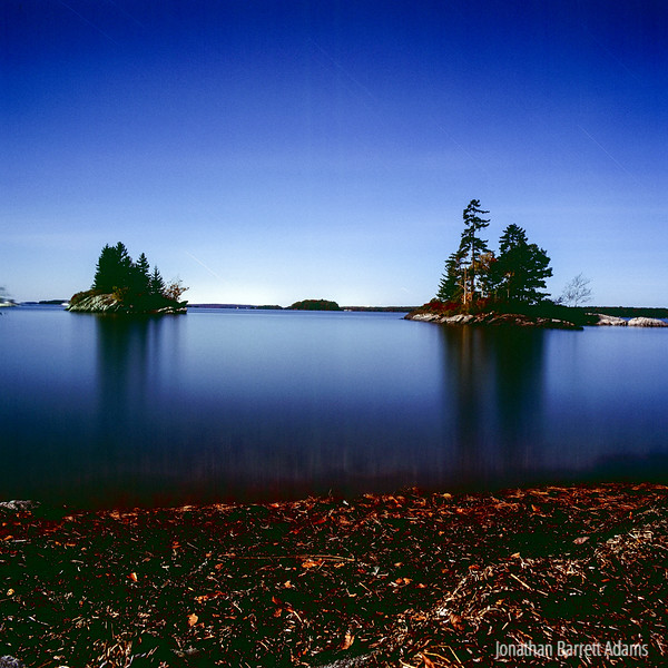 Lookout Point by Autumn Full Moonlight
