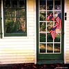 Summer Cottage in Autumn with Old Glory