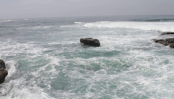 storm system in New Zealand made the pacific ocean churn at La Jolla. We had 10 foot waves that day. It was a sight to watch at La Jolla Cove, San Diego County, California, September 2011