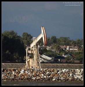 Oil pump, Bolsa Chica Ecological Reserve, Orange County, California, February 2011