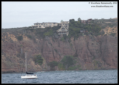 House on the cliff, Dana Point, Orange County, California, January 2012