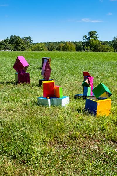 outdoor sculpture at Maudslay :: 2019