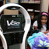 Meera Nair, a Tyngsboro Elementary School student with cerebral palsy has not been able to attend school this year due to an operation she had to have. She has been able to keep up with her work by the means of this robot called VGo.  SUN/JOHN LOVE