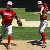STAN HUDY - SHUDY@DIGITALFIRSTMEDIA.COM<br /> Spring Youth Baseball's pair of right-handers Austin Francis (left) and Andrew Dongelewic (right) comined to one-hit the Piedmont Pythons and advance to the Cal Ripken 12U Mid-Atlantic Regional.