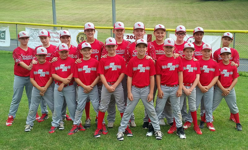 STAN HUDY - SHUDY@DIGITALFIRSTMEDIA.COM<br /> The Spring Youth Baseball 12U squad is all smiles as they head into the 12-year-old Cal Ripken Baseball Mid-Atlantic Regional July 18-22 in Clifton Park.